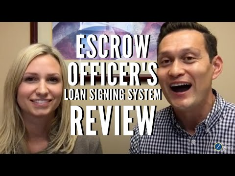 Escrow Officer Testimonial of the Loan Signing System Signing Agent Training Course
