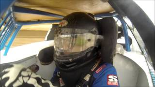 Josh Angst's USRA Modified heat race at Deer Creek Speedway