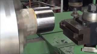 Lehmann Hollow Spindle Engine Lathe Cutting Threads