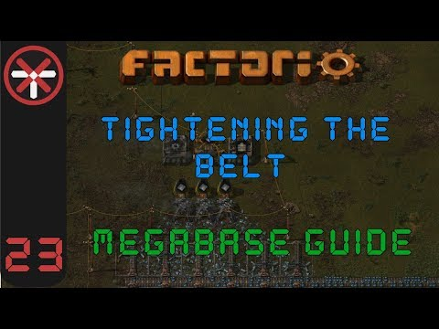 Factorio: Tightening The Belt: Megabase Guide EP23 - NUCLEAR POWER | Tutorial Gameplay Series