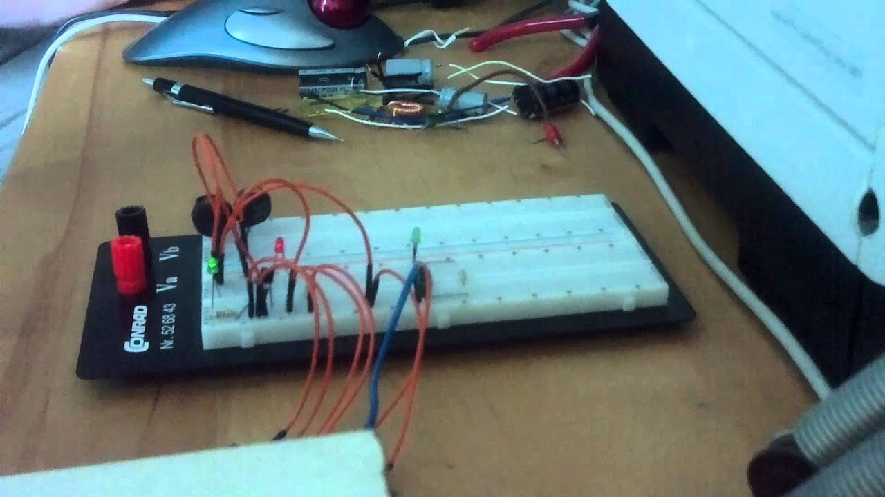 Raspberry Pi: NPN-transistor with LED in an RL-circuit with extra ...