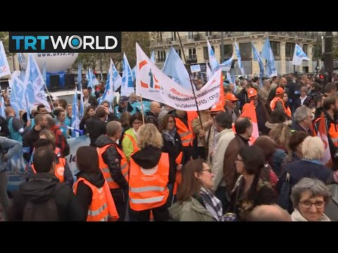 Money Talks: French public sector workers protest against Macrons labor reforms