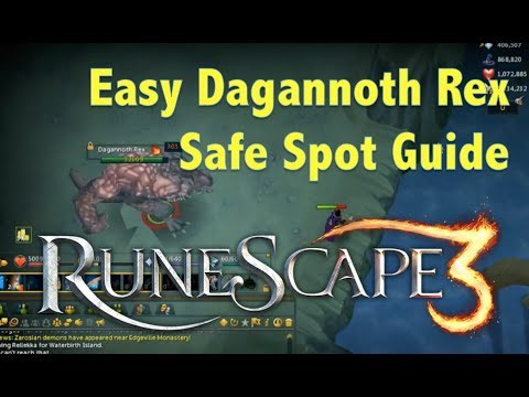 EASY Dagannoth Rex Safe Spot/(Low Level Guide) Runescape (2017)