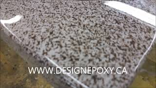 Faux Granit epoxy countertop  Comptoir résine epoxie imitation Granite