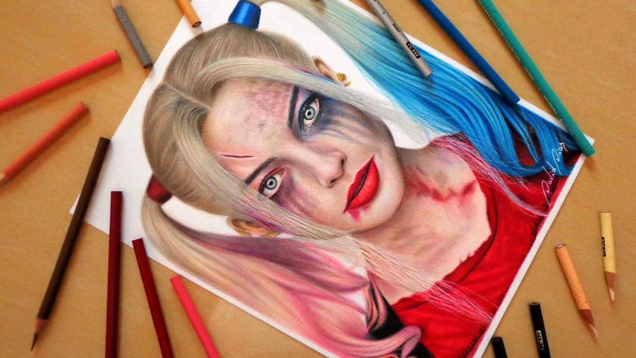 Quinn Drawing: Speed Drawing: Harley Quinn
