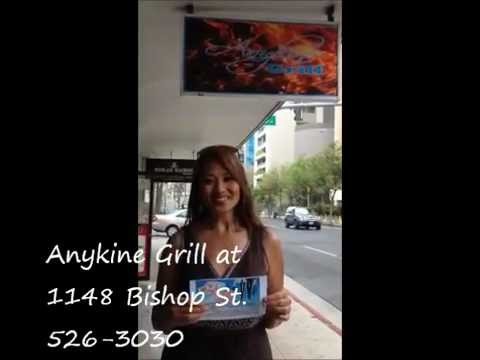 Downtown Daily Deals in Honolulu at Anykine Grill 1148 Bishop St