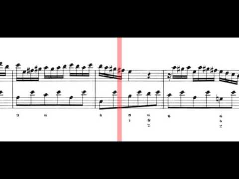 BWV 1033 - Flute Sonata in C Major (Scrolling)