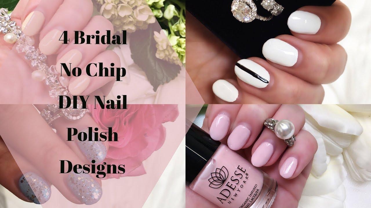 Four Bridal No Chip Nail Polish Designs - YouTube