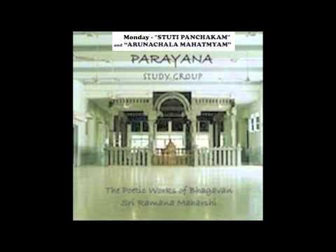 Monday  - Stuti Panchakam and Sri Arunachala Mahatmyam