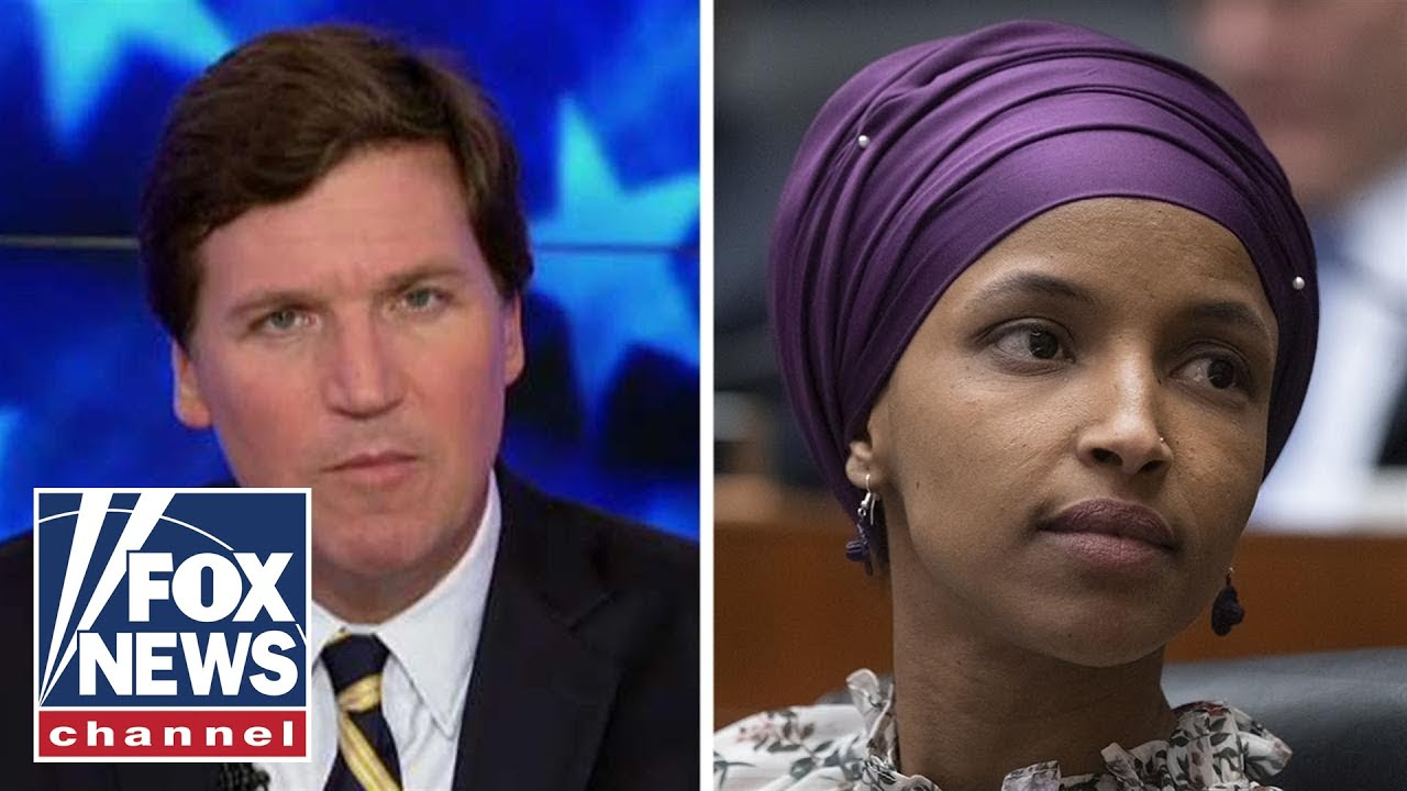Image result for Tucker Carlson exposes Rep. Omar as an Al Qaeda and ISIS sympathizer & anti-American Lunatic