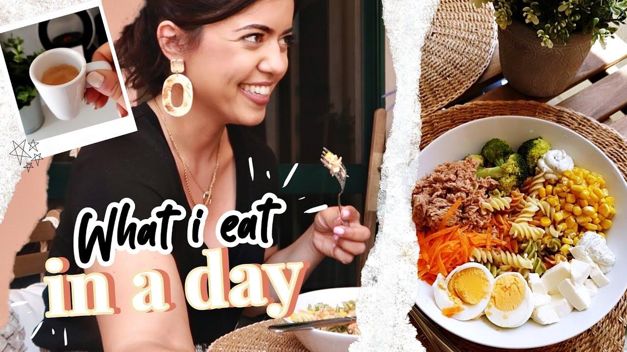 WHAT I EAT IN A DAY #1 | Vou melhorar a minha alimentação! | Andreia Simão