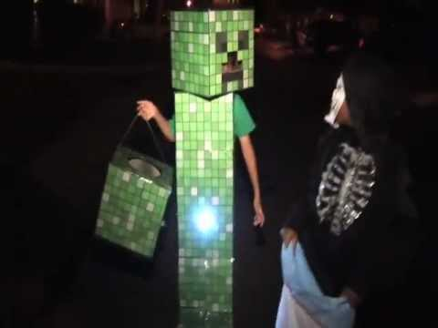 Noahu0027s Minecraft Creeper Costume Halloween 2012 & Noahu0027s Minecraft Creeper Costume Halloween 2012 - YouTube