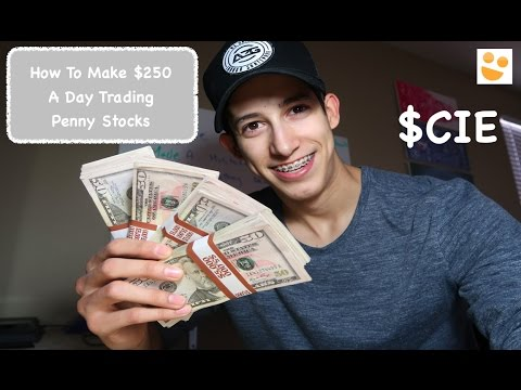 Making +$250 A Day Trading Penny Stocks: How To Trade: $CIE | Episode 17