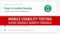 Mobile Usability Testing Using Google Search Console