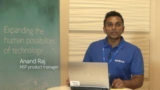Anand Raj, Product Manager – Network Services Platform (NSP), demon...
