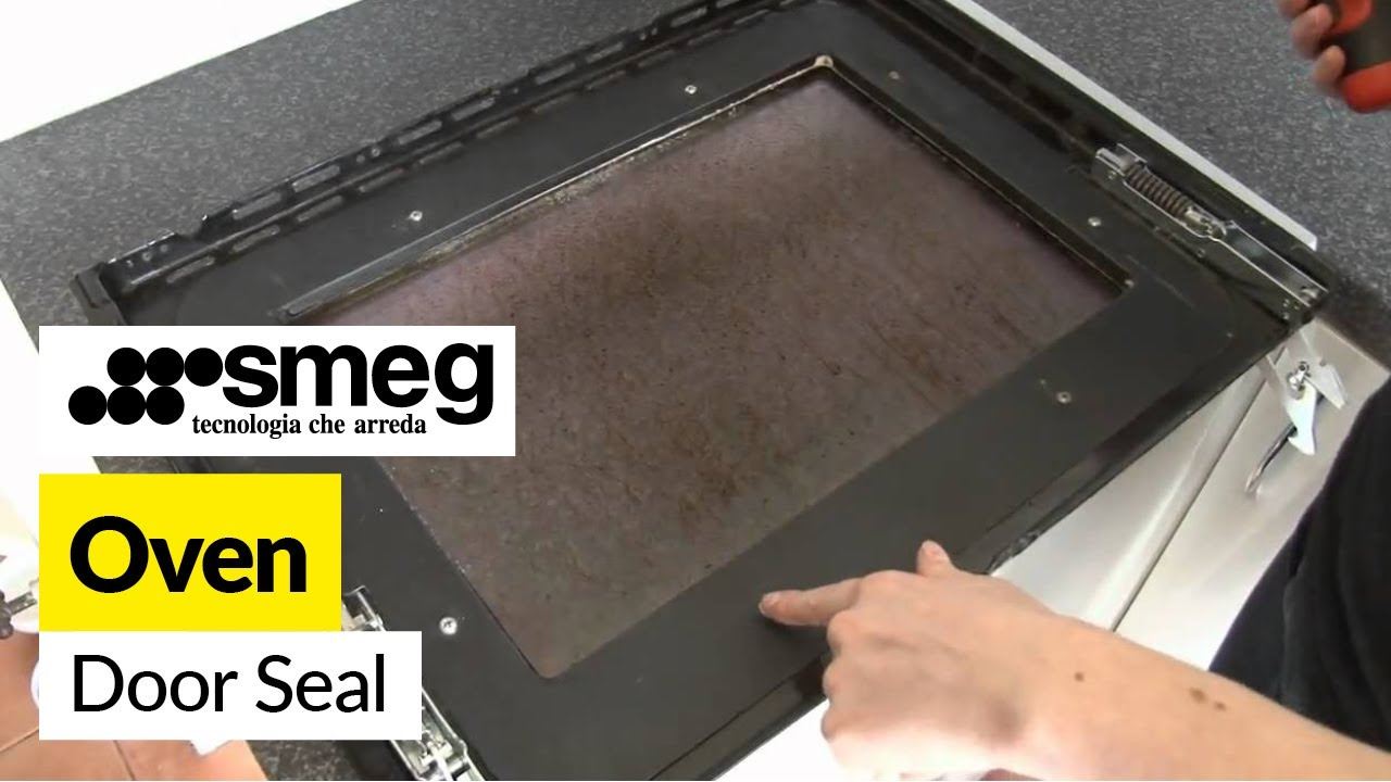 kitchen aid superba black distressed cabinets how to replace an oven door seal on smeg cooker - youtube
