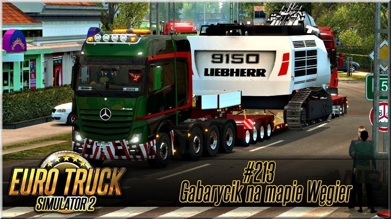 """Euro Truck Simulator 2 – #213 """"Gabarycik na mapie Węgier"""""""