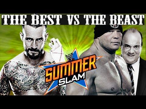 wwe-summerslam-2013:-the-best-vs-the-beast---cm-punk-vs-brock-lesnar-full-ppv-simulation