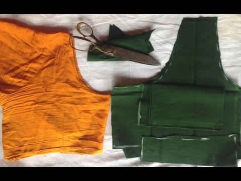 Normal Blouse Cutting with cloth measurement