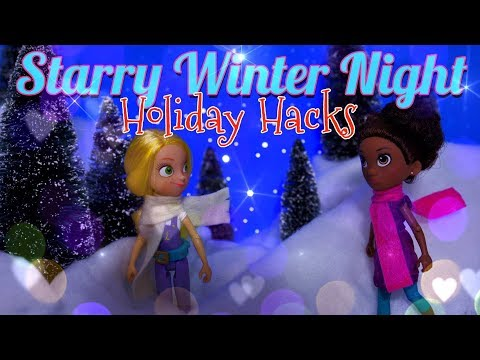DIY - How to Make: Starry Winter Night | WORKING LED | GoldieBlox & My Froggy Stuff s. 3/ 7