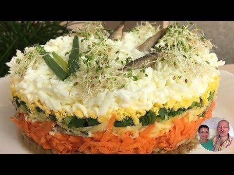САЛАТ «Ловись Рыбка» 🐳 | Слоеный салат на Пасхальный стол!