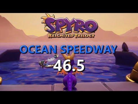 [FWR] Spyro Reignited Ocean Speedway In 46.5 (Normal Flame)