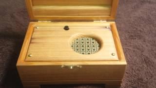 Reclaimed Cypress Music Box