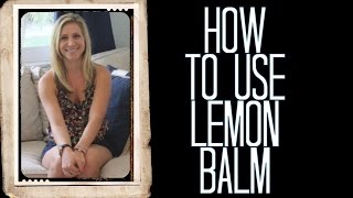 Use More Lemon Balm