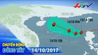 Sáng 15/10, bão số 11 khả năng đổ bộ vào miền Trung | CHUYỂN ĐỘNG ĐÔNG TÂY - 14/10/2017