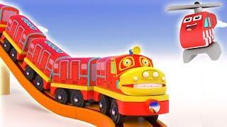 Build an Bridge For Toy Train - Cartoon for kids - Toy Train for kids - Choo choo train kids videos