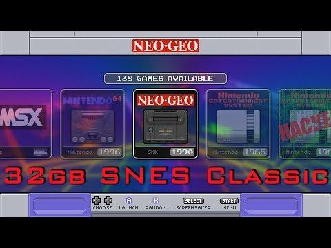 32gb SNES Classic Theme V 1 2 All The Bells & Whistles - Смотреть видео