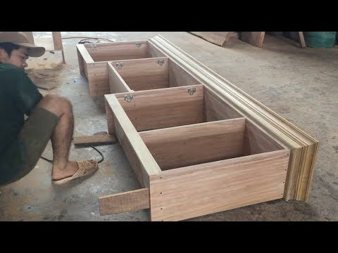 Amazing Woodworking Skill Carpenter – How To Build Kitchen Cabinets Frame Extremely Fast And Simple