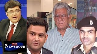 Should Om Puri Apologize For His Insensitive Remark?: The Newshour Debate (4th Oct)