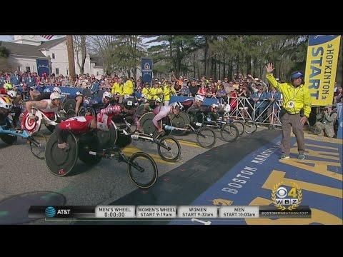 2017 Boston Marathon Men's Wheelchair Start