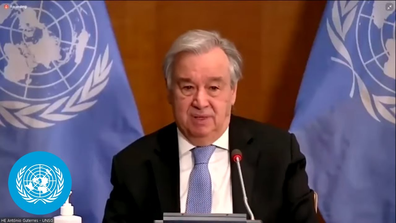 UN Chief on UN Climate Change Conference (COP26) preparations