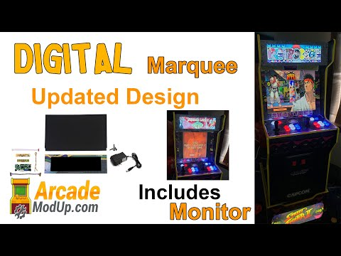 Arcade1Up LCD Marquee Mod   UPDATED! from ArcadeModUp
