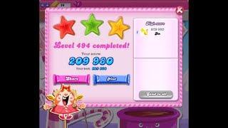 Candy Crush Saga Level 494 ★★★ NO BOOSTER