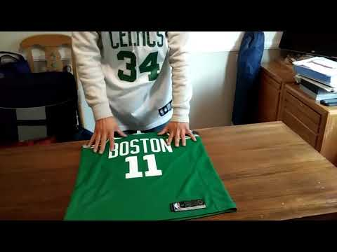 NIKE SWINGMAN JERSEY REVIEW!! KYRIE IRVING BOSTON CELTICS JERSEY ANd HOW TO TELL IS REAL!!!!