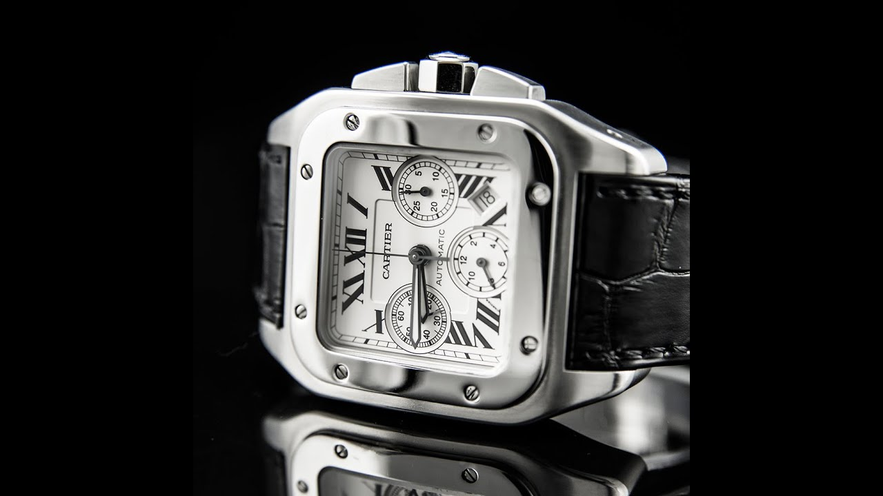 e707b2e6e5c CARTIER SANTOS 100 EXTRA LARGE CHRONOGRAPH Pre Owned - YouTube