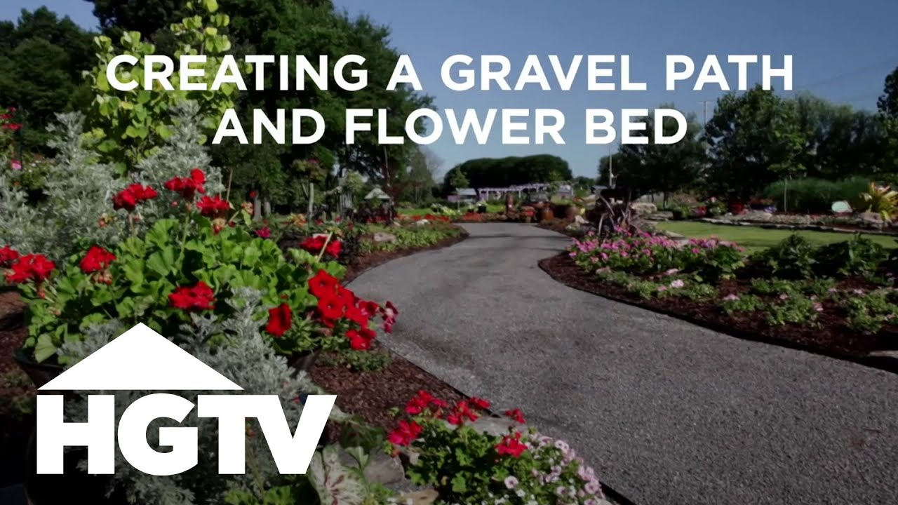 Diy Gravel Path Flower Bed Hgtv Gardening Youtube