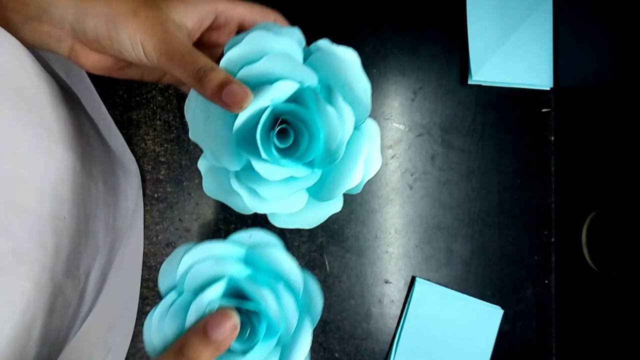 How To Make Realistic And Easy Paper Roses Complete Tutorial Youtube