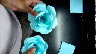 Repeat youtube video How to make realistic and easy paper roses (complete tutorial)