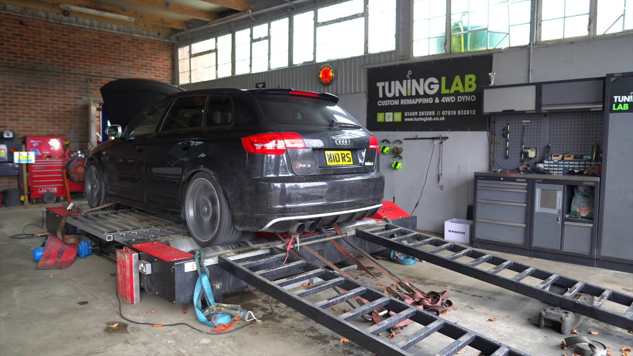 Audi RS3 8P 2012 rolling road dyno pull stage 3 TTE500 water meth injected 500bhp beast over 700nm!