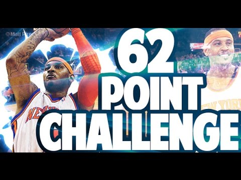 CARMELO ANTHONY 62 POINT CHALLENGE! NEAR TRIPLE DOUBLE WITH 62 PTS!? WTF! NBA 2K17 MYTEAM GAMEPLAY