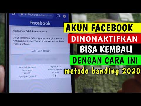 Trik Membuka Akun Facebook yang Di NONAKTIFKAN, 100% Berhasil.