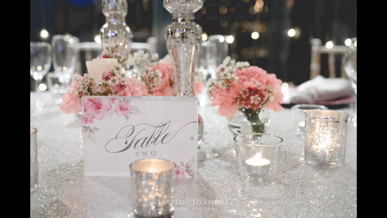 Romantic Pink and Silver Wedding styled by Enchanted
