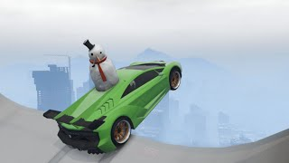 GTA 5 Winter Stunts/Jumps #1 [Mega Ramps]