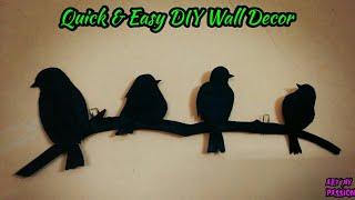 DIY Wall Hanging Craft Ideas | Diy Wall Decor | Quick & Easy Bird Wall Hanging | artmypassion