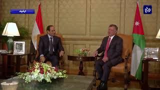 جلالة الملك والرئيس المصري يبحثان آخر التطورات المتعلقة بالقدس - (10-12-2017)