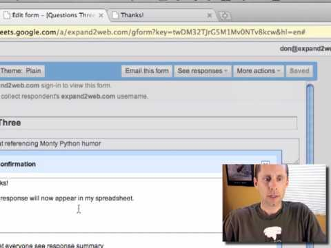 Create a Web Form Using Google Docs - Video Tutorial - YouTube